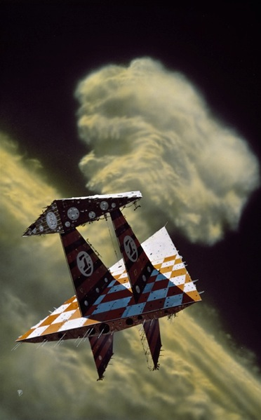 Chris Foss, Traingular Spaceship, http://www.chrisfossart.com/2011/04/the-blood-star-conspiracy/